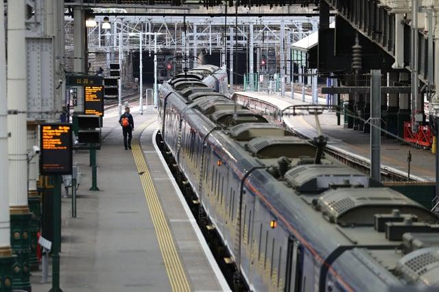 Edinburgh Waverley station (Photo: Andrew Milligan/PA Wire).