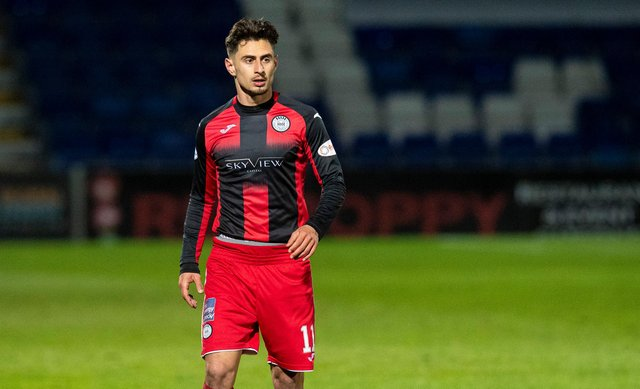 Ilkay Durmus in action for St Mirren during the 2020/21 campaign