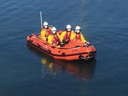 The Dunbar inshore lifeboat crew in action. Picture: Ian Wilson/Dunbar RNLI