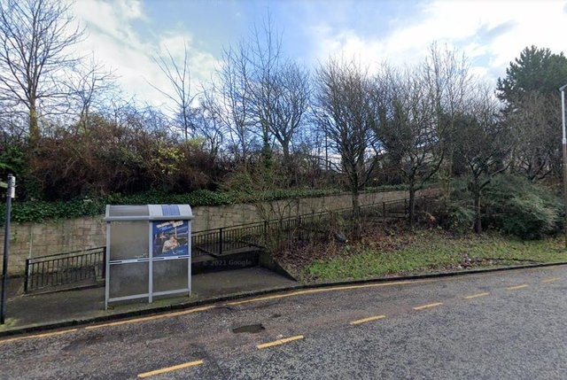 The footpath runs adjacent to Hailesland Road from Drumbryden Grove. Pic: Google
