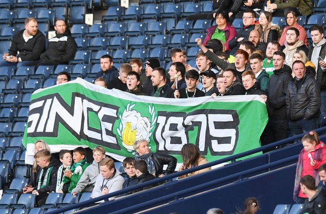 Up to 1,000 Hibs fans could be at Hampden Park for the Scottish Cup final. Picture: SNS