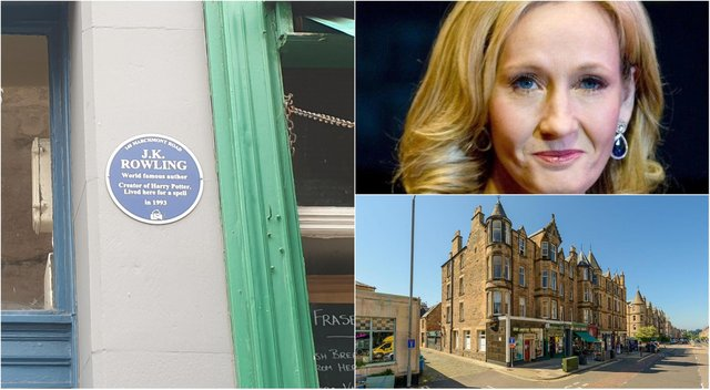 A property in the same Marchmont Road building where author JK Rowling briefly stayed has gone on the market.