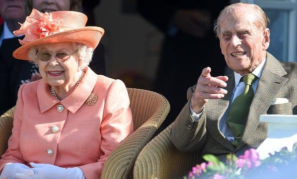 Queen Elizabeth II and Prince Philip, Duke of Edinburgh, attend The OUT-SOURCING Inc Royal Windsor Cup 2018 polo match at Guards Polo Club on June 24, 2018. Picture: Antony Jones/Getty Images