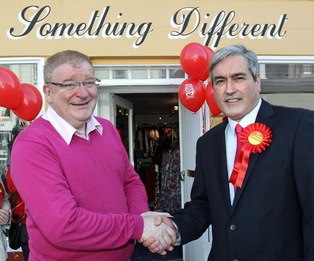 Iain Gray does election walkabout in Haddington.