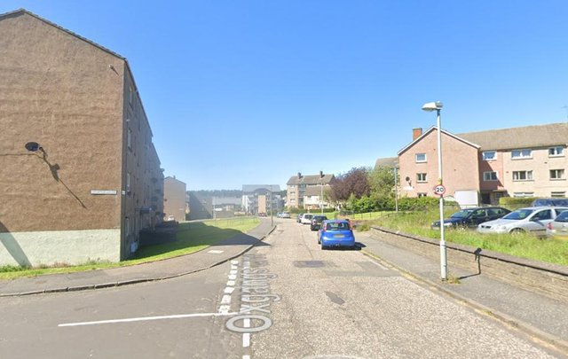 Armed police were called to the address in Oxgangs Crescent. Pic: Google