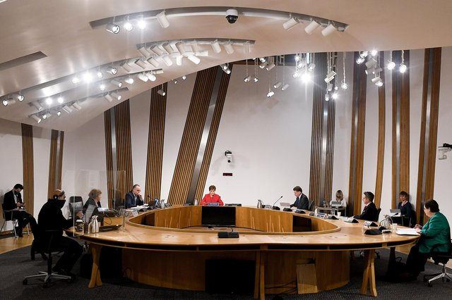 First Minister Nicola Sturgeon gives evidence to the Holyrood committee. Jeff J Mitchell/Getty Images)