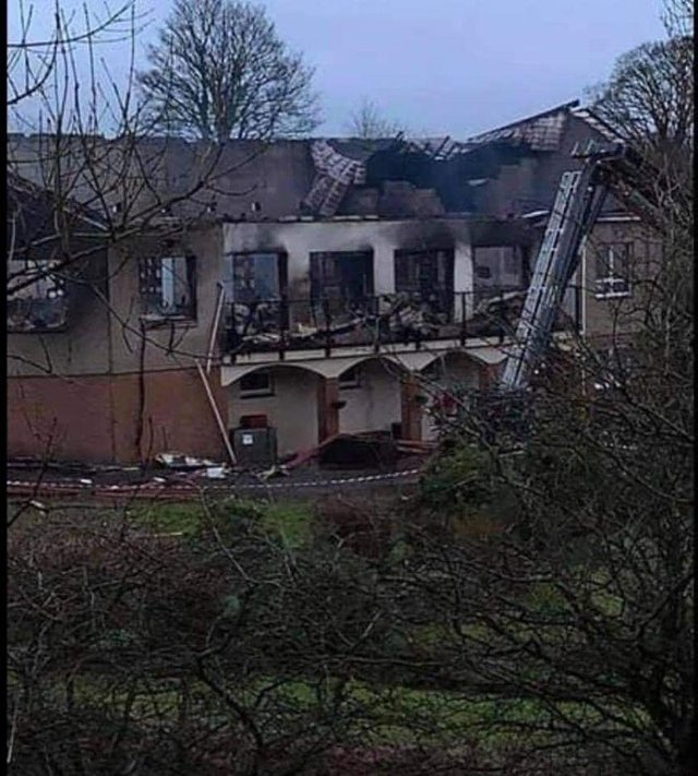 The clubhouse at Uphall Golf Club was  left gutted by a fire in mid-February. Picture: Lisa Ferguson.