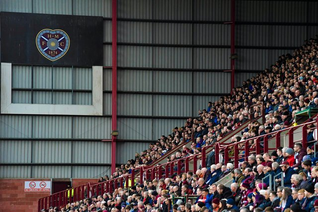 Hearts fans return to Tynecastle for the Premier Sports Cup clash with Cove Rangers. (Photo by Rob Casey / SNS Group)