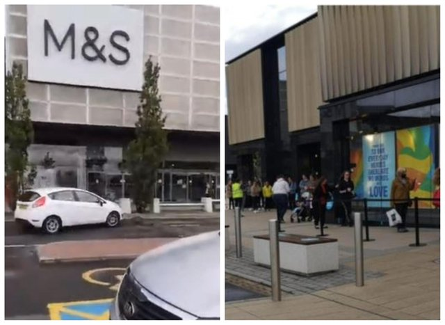 M&S along with Primark reopened at Fort Kinnaird today
