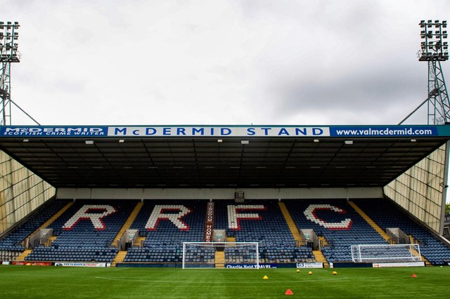 A general view of the McDermid Stand at Stark's Park