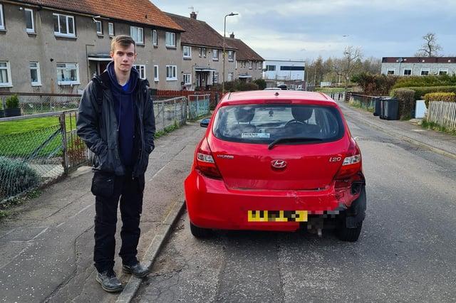 Brandon Mclaughlin heartbroken over the smashed up car