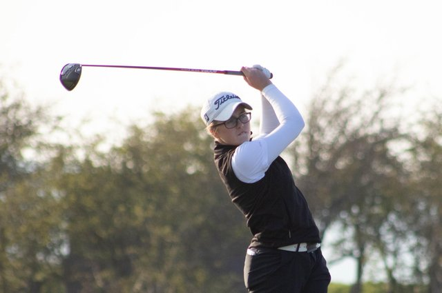 Broomieknowe's Hannah Darling leads after the first of two stroke-play qualifying rounds for the Women's Amateur Championship at Kilmarnock (Barassie). PIcture: Scottish Golf