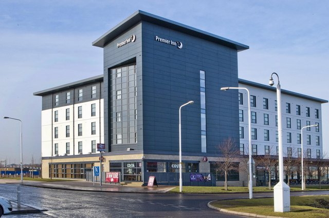 Premier Inn has one of the UK's largest hotel estates, including this establishment at Edinburgh Park on the outskirts of the capital. Picture: Premier Inn/PA
