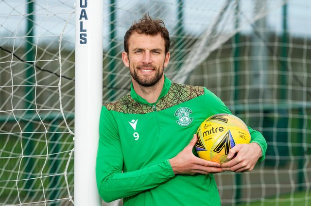 Hibs striker Christian Doidge is preparing to face Queen of the South in Monday's Scottish Cup tie in Dumfries. (Photo by Mark Scates / SNS Group)
