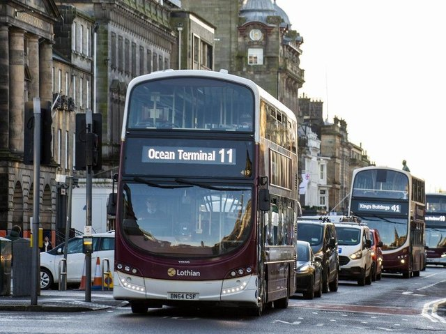 Lothian Buses said they could not trust Mr Beech to drive one of their buses again. Pic: Lisa Ferguson