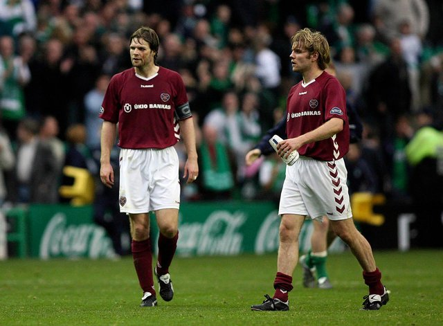Robbie Neilson had his say on the comments made by former Hearts team-mate Steven Pressley. Picture: SNS