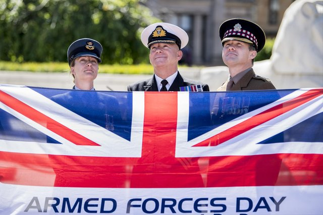 Armed forces day in Glasgow's George Square, 2018 (John Devlin)