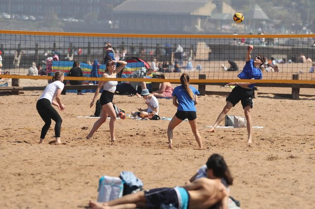 People at Portobello as Bank Holiday Monday was confirmed as the hottest day of the year so far