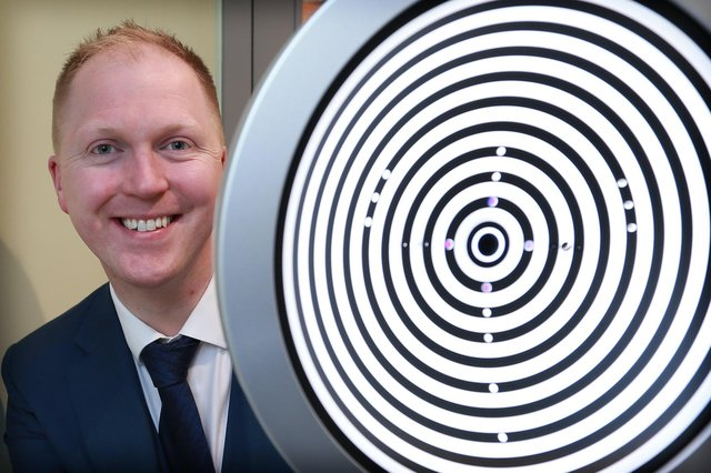 Michael O'Kane, 39, joins the exclusive club of 77 opticians across the UK who have achieved the covetedFellowship of Optometry from the College of Optometrists.