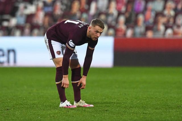 Hearts defender Stephen Kingsley has a groin injury.