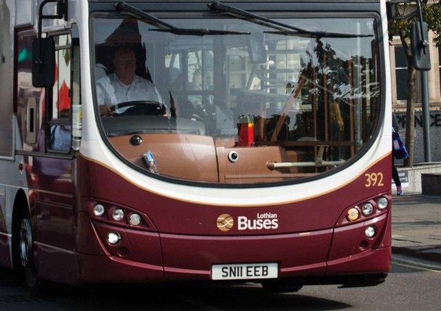 Eight buses were targeted in the areas of Gilmerton Road and Old Dalkeith Road, between 7.25pm and 8.50pm, resulting in nine broken windows in total.