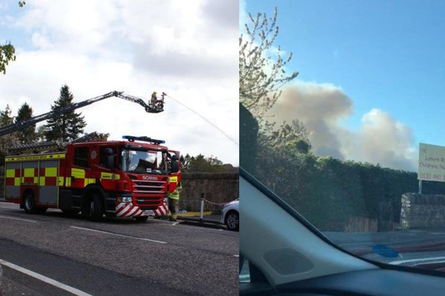 Scottish Fire and Rescue Service in attendance at Lanark Road.