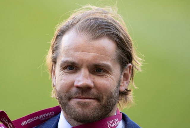 Hearts manager Robbie Neilson is determined to stay calm.