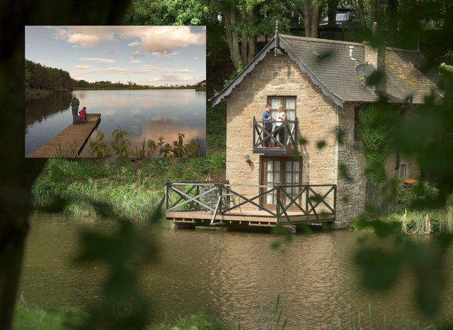 The Leannan Boathouse is a bolthole for two in the Angus countryside offering views of tranquil woodland and pretty fishing ponds.
