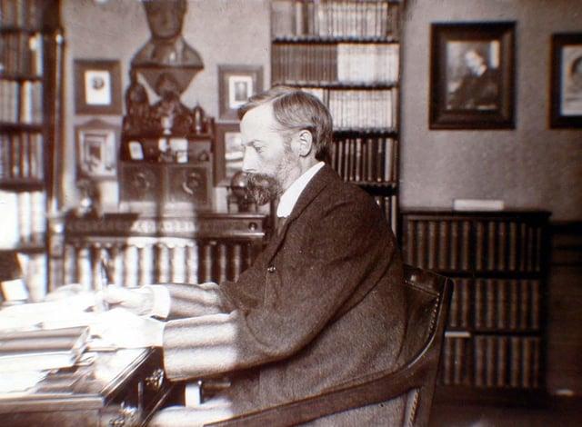 John George Bartholomew at home.