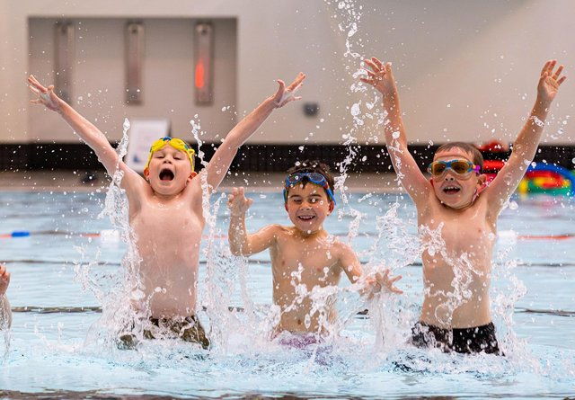 Children are enjoying their swimming lessons again. Pic: Euan Duff/Duff Company