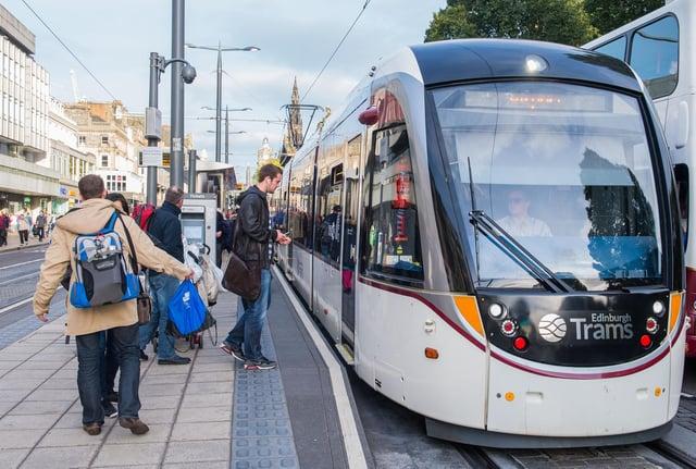 Trams on Princes Street PIC: Ian Georgeson