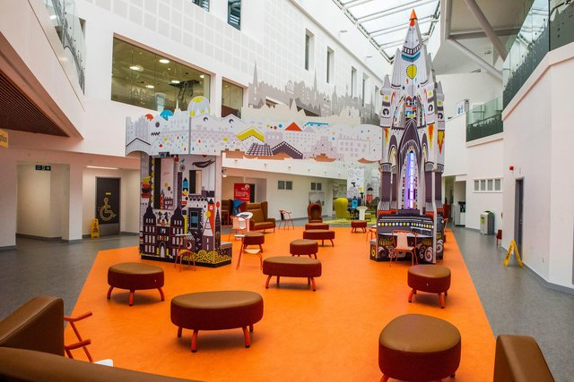 Hayley Matthews is a fan of the interior of the new Royal Hospital for Children and Young People (Picture: Chris Watt Photography/PA)