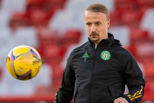 There are question marks over Leigh Griffiths future at Celtic and the striker has been linked with a return to Hibs. (Photo by Ross Parker / SNS Group)