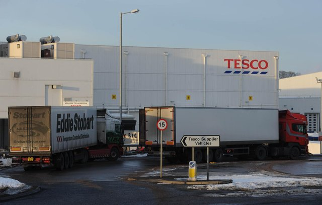 The pay cut plan affects up to 290 staff at Tesco's Livingston distribution depot, which supplies the whole of Scotland