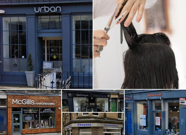 Here are ten of Edinburgh's best rated hairdressers.