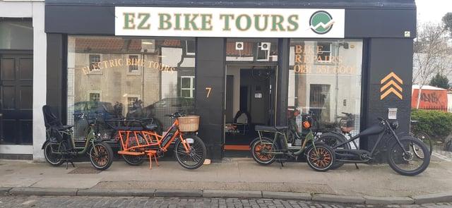 EZ Bike Tours bike range and shop front