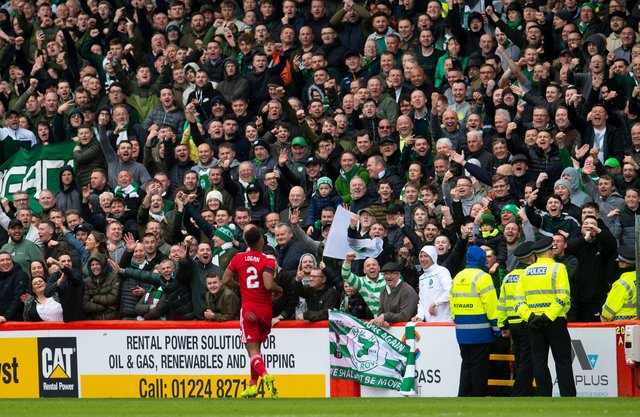 Shay Logan has had a dig at Celtic over their managerial situation. Picture: SNS