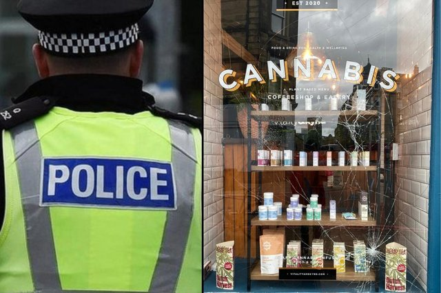 Staff at Vitality and Kynd in 14 Leven Street arrived at the premises on Tuesday morning to find the front window had been smashed picture: supplied