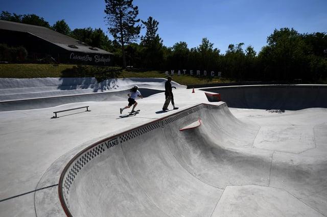 Skateparks are often jam-packed