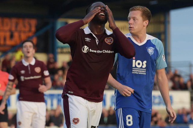 Hearts lost on their last trip to Peterhead. Picture: SNS