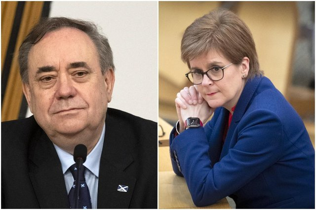 Former First Minister Alex Salmond and First Minister Nicola Sturgeon picture: PA