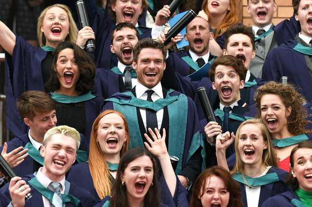 Actor Richard Madden received an honorary degree from the Royal Conservatoire of Scotland in 2019.