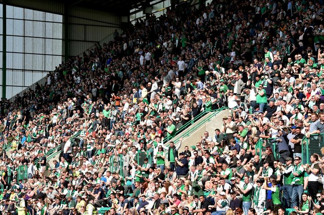 Hibs fans have already snapped up more than 2000 season tickets. Picture: SNS