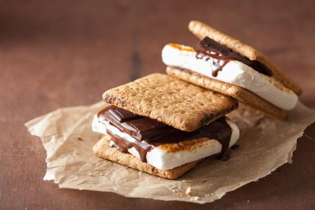 Graham Crackers are a key ingredient of camper dessert 'smore's' (Shutterstock)