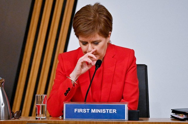 First Minister Nicola Sturgeon gives evidence to the Holyrood committee examining the Scottish Government's handling of harassment allegations against Alex Salmond: Picture: Jeff J Mitchell/AFP/Getty