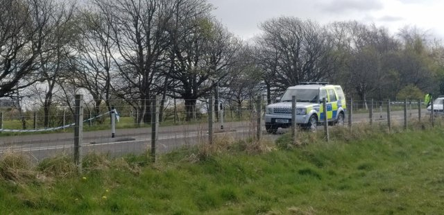 Police in attendance at Silverknowes Road, Edinburgh, on Thursday, where the crash happened. Picture: supplied