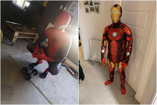 Stephen and Ross will don superhero costumes picked out by Rachel's children to raise money on their run this Sunday