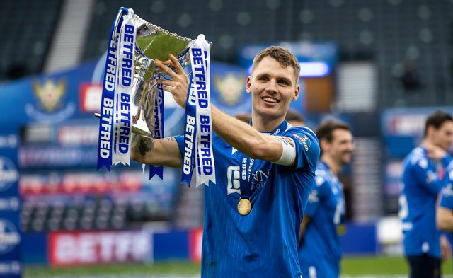 St Johnstone centre-back Jason Kerr is reportedly a target of Hibs. Picture: SNS