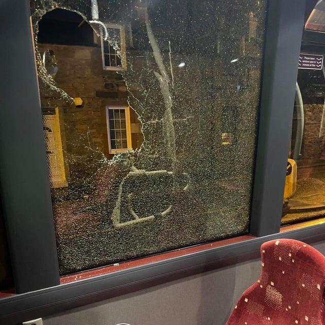 Vandals target buses in Edinburgh