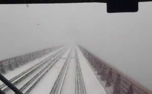 The view from the Forth Bridge this morning picture: ScotRail